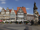 Market Square with Roland Statue  Old Town  UNESCO World Heritage Site  Bremen  Germany  Europe
