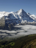 View from Grindelwald-First to Bernese Alps with Eiger  Bernese Oberland  Swiss Alps  Switzerland