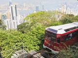 The Peak Tram Climbing Victoria Peak  Hong Kong  China  Asia