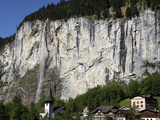 Lauterbrunnen Falls  Lauterbrunnen Valley  Bernese Oberland  Swiss Alps  Switzerland  Europe
