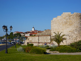 Ramparts and Ruins of the Medieval Fortification Walls  Old Town  Nessebar  Black Sea  Bulgaria  Eu