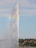 Jet D'Eau  the World's Tallest Fountain  on Lake Geneva (Lake Leman)  Geneva  Switzerland  Europe