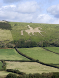 The White Horse of Osmington Hill  Weymouth  Dorset  England  United Kingdom  Europe