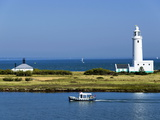 Lighthouse at Hurst Castle  Keyhaven  Hampshire  England  United Kingdom  Europe