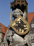 Statue of Roland  Market Square  UNESCO World Heritage Site  Bremen  Germany  Europe