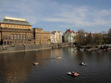 National Theatre and the River Vltava  Prague  Czech Republic  Europe