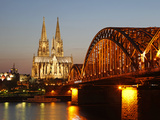 Hohenzollern Bridge over the River Rhine and Cathedral  UNESCO World Heritage Site  Cologne  North