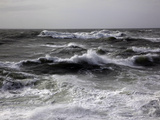 Wild Winter Seas Off Mort Point  Devon  England  United Kingdom  Europe