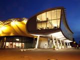 Musical Theatre at Harbour  Illuminated at Night  Hamburg  Germany  Europe