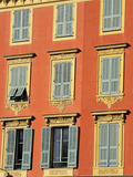 Ornate Shuttered Windows  Port Lympia in the Quartier Du Port  Nice  Alpes Maritimes  Provence  Cot