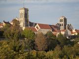 Vezelay Abbey  UNESCO World Heritage Site  from Southwest  Vezelay  Burgundy  France  Europe