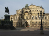 Semper Opera  Dresden  Saxony  Germany  Europe
