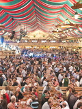 Beer Hall at the Stuttgart Beer Festival  Cannstatter Wasen  Stuttgart  Baden-Wurttemberg  Germany 