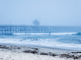 San Clemente Pier with Surfers on a Foggy Day  California  United States of America  North America
