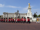 Band of the Coldstream Guards Marching Past Buckingham Palace During the Rehearsal for Trooping the