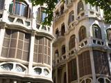 Modernist Facades of Can Casasayas and Pensio La Menorquina  Placa Mercat  Palma De Mallorca  Mallo