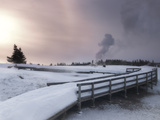 Upper Geyser Basin Winter Landscape  Yellowstone National Park  UNESCO World Heritage Site  Wyoming