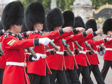 Changing of the Guard at Buckingham Palace  London  England  United Kingdom  Europe