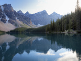 Reflections in Moraine Lake  Banff National Park  UNESCO World Heritage Site  Alberta  Rocky Mounta