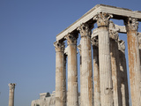 Temple of Olympian Zeus and Acropolis  Athens  Greece  Europe