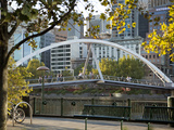 Southgate Footbridge over Yarra River  Melbourne  Victoria  Australia  Pacific