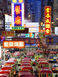 Street Scene and Mini Bus Station  Mong Kok  Kowloon  Hong Kong  China  Asia