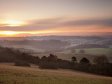Newlands Corner View at Dawn  Near Guilford  Surrey Hills  North Downs  Surrey  England  United Kin