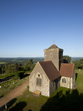 St Marthas Church  St Marthas Hill  Surrey Hills  North Downs Way  Near Guildford  Surrey  Englan