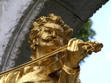 Johann Strauss Statue at Stadtpark  Vienna  Austria  Europe