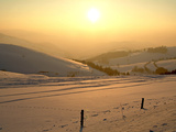 Winter Landscape at Schauinsland  Black Forest  Baden-Wurttemberg  Germany  Europe
