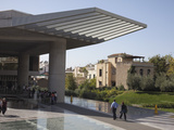 Entrance to the Acropolis Museum  Athens  Greece  Europe