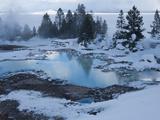 West Thumb Basin Winter Landscape  Yellowstone National Park  UNESCO World Heritage Site  Wyoming