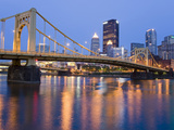 Andy Warhol Bridge (7th Street Bridge) over the Allegheny River  Pittsburgh  Pennsylvania  United S