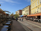 Cours Saleya Market and Restaurant Area  Old Town  Nice  Alpes Maritimes  Provence  Cote D'Azur  Fr