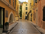 Narrow Back Street  St Tropez  Var  Provence  Cote D'Azur  France  Europe