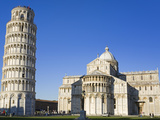Leaning Tower and Duomo  Pisa  UNESCO World Heritage Site  Tuscany  Italy  Europe