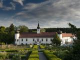 Schiltern Castle from Accross Arche Noah Bio Produce Garden  Schiltern  Niederosterreich  Austria