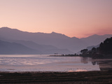 Phewa Lake at Sunset  Near Pokhara  Gandak  Nepal  Asia