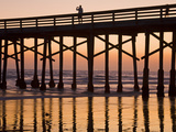 Newport Beach Pier at Sunset  Newport Beach  Orange County  California  United States of America  N
