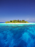 Tropical Island and Lagoon in Maldives  Indian Ocean  Asia