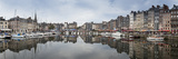 Panorama of Inner Harbour  Honfleur  Normandy  France  Europe