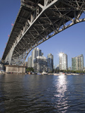 Granville Bridge Spanning False Creek at Granville Island  Vancouver  British Columbia  Canada  Nor