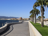 Frejus Viewed from Bonaparte Gardens  St Raphael  Var  Provence  Cote D'Azur  France  Europe