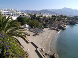 View from Balcon De Europa of Nerja  Andalusia  Spain  Europe