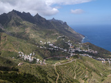 Anaga Mountains and Almaciga  Tenerife  Canary Islands  Spain  Atlantic  Europe