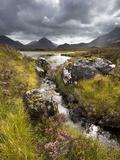 View over Loch Caol to Sgurr Nan Gillean and Marsco  Glen Sligachan  Isle of Skye  Highlands  Scotl