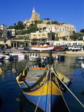 Luzzu Fishing Boat  Mgarr Harbour  Gozo  Malta  Mediterranean  Europe