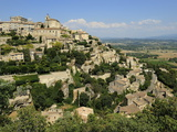 The Hilltop Village of Gordes Designated Les Plus Beaux Villages De France  Vaucluse  Provence  Fra