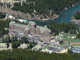Banff Springs Hotel and Bow River Near Banff  Banff National Park  UNESCO World Heritage Site  Albe