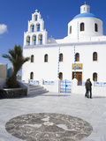 Greek Orthodox Church in Oia Village  Santorini Island  Cyclades  Greek Islands  Greece  Europe